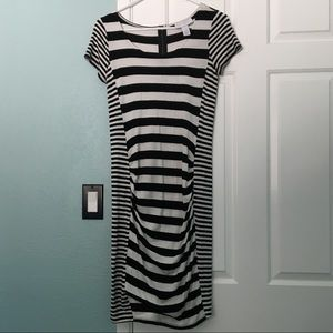 Jessica Simpson Striped Maternity Dress S/P EUC!